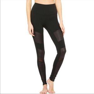 ALO Yoga Pants - Alo yoga black high waist moto leggings